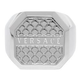 Versace Silver Octagonal Ring DG58043 DJMT