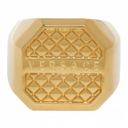 Versace Gold Octagonal Ring DG58043 DJMT