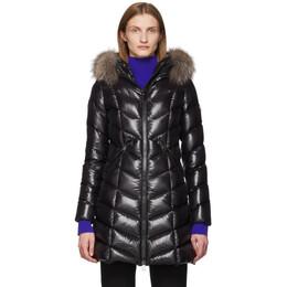 Moncler Black Down and Fur Fulmarus Coat E20934986325C0065