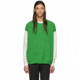 Givenchy Green Knit Color Block Sweater BM90B74Y55