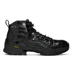 1017 Alyx 9Sm Black Croc Hiking Boots AAUBO0030LE01BLK0001