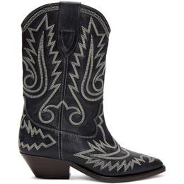 Isabel Marant Black Western Stitch Duerto Boots 20PBO0448-20P024S