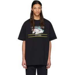 Vetements Black STAR WARS Edition Falcon T-Shirt USW21TS005