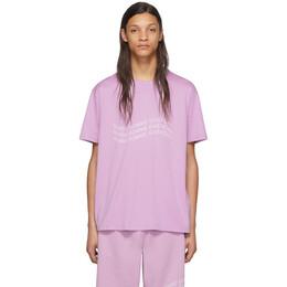 Givenchy Purple Logo Wave T-Shirt BM70UF3002