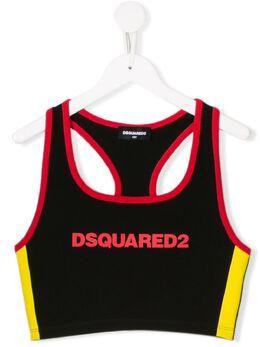 Dsquared2 Kids укороченный спортивный топ DQ03ZNTD00XN