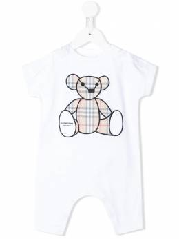 Burberry Kids ромпер с вышивкой Thomas Bear 8022709