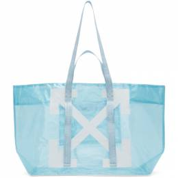 Off-White Blue PVC Arrows Commercial Tote OWNA094R20H07071B301