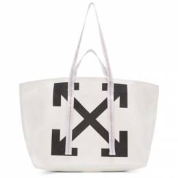 Off-White White Canvas Arrows Commercial Tote OWNA094R20B640710210