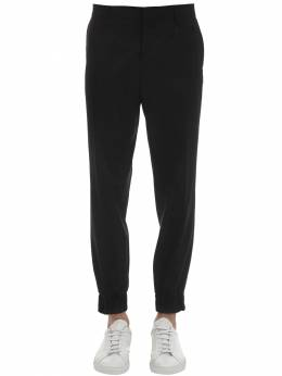 Wool Formal Pants W/ Embroidered Detail Moschino 71IXH4002-NTU10