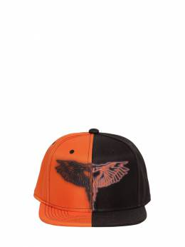 Printed Color Block Canvas Baseball Hat Marcelo Burlon County Of Milan 71IOEM036-QjAxMA2