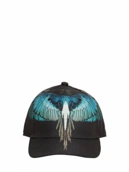 Wings Printed Canvas Baseball Hat Marcelo Burlon County Of Milan 71IOEM035-QjAxMA2
