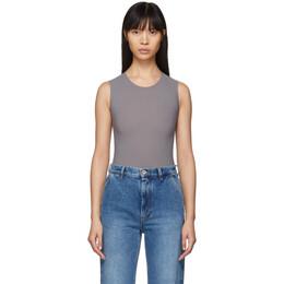 Maison Margiela Grey Jersey Sleeveless Bodysuit S51NA0065 S20518