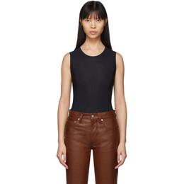 Maison Margiela Black Jersey Sleeveless Bodysuit S51NA0065 S20518