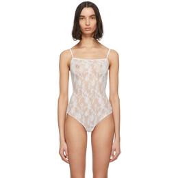 Wolford White Katherina String Bodysuit 79175