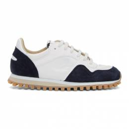 Spalwart White and Navy Marathon Trial Low WBHS Sneakers 9703773 5870
