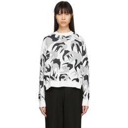 MCQ by Alexander McQueen White Camo Swallows Sweater 579182ROK02