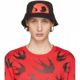 MCQ by Alexander McQueen Black and Red Chester Bucket Hat 571333RGC48