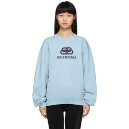 Balenciaga Blue BB Logo Sweatshirt 583250-THV78