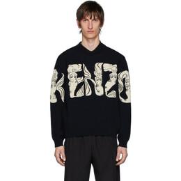 Kenzo Navy Mermaids Sweater FA55PU5163CA