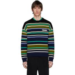Kenzo Multicolor Striped Seasonal Sweater FA55PU5113BC