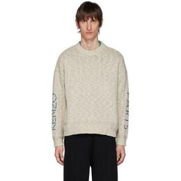 Kenzo Off-White Linen Kenzo Paris Sweater FA55PU5123LE