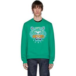 Kenzo Green Tiger Sweatshirt FA55SW0014XA