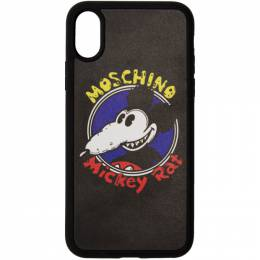 Moschino Black Chinese New Year Mickey Rat iPhone XS/X Case 7974 8352 A1555