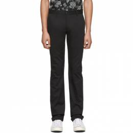 Naked And Famous Denim Black Stretch Twill Trousers 015234