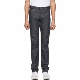 Naked And Famous Denim Indigo Chinese New Year Metal Rat Super Guy Jeans RAT737200