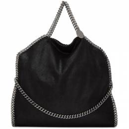 Stella McCartney Black Three-Chain Falabella Tote 234387W9132
