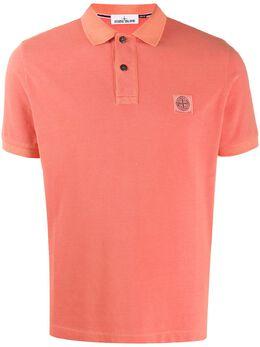 Stone Island рубашка-поло с нашивкой-логотипом 721522S67