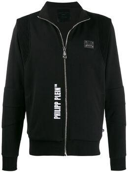 Philipp Plein свитер на молнии с логотипом A19CMJB1538PJO002N
