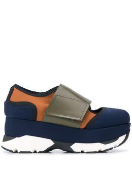 Marni кроссовки в стиле колор-блок на платформе SNZWW14G08TCR86