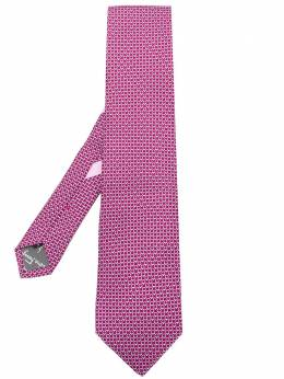 Salvatore Ferragamo галстук с принтом 'Gancio' 681951