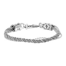Emanuele Bicocchi Silver Single Torsion Rope Bracelet RPB3