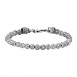 Emanuele Bicocchi Silver Striped Balls Bracelet FRB2