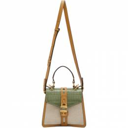 Chloe Off-White and Green Small Aby Day Bag CHC20SS205C30
