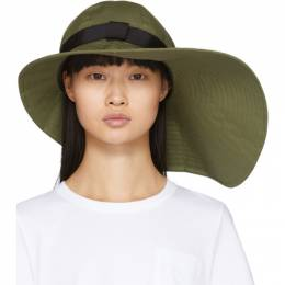 Sacai Khaki Wide Brim Beach Hat 20-0069S