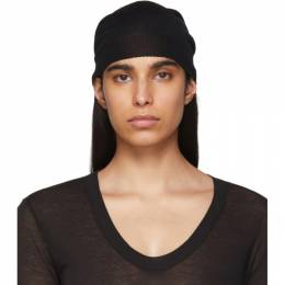 Rick Owens Black Medium Knit Beanie RP20S1494 M
