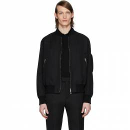 Bottega Veneta Black Side Detail Bomber Jacket 600039 VA8Q0