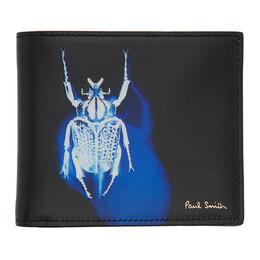 Paul Smith Black Beetle Bifold Wallet M1A-4832-ABEPHO