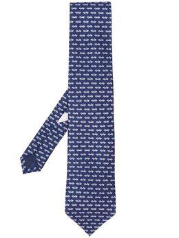 Salvatore Ferragamo галстук с принтом 723065