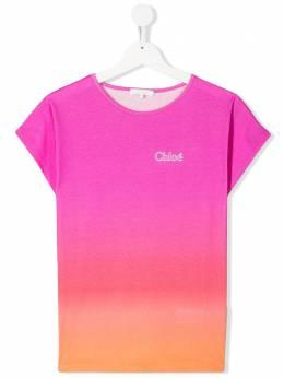 Chloe Kids футболка с эффектом градиента C15B25Z40