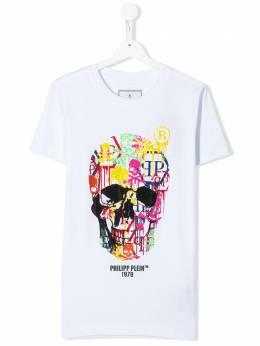 Philipp Plein Junior футболка с принтом S20CBTK0895PJY002N