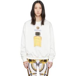 Versace White Eau de Toilette Sweatshirt A86017 A231242