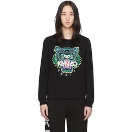 Kenzo Black Tiger Sweatshirt FA52SW7054XA