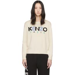 Kenzo Off-White Kenzo Paris Sweater FA52PU507808