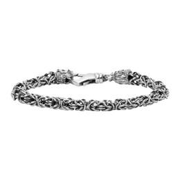 Emanuele Bicocchi Silver Chain Braided Bracelet BYB3