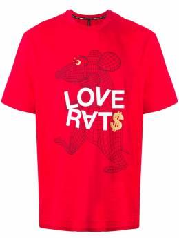 Blackbarrett футболка с надписью 1AXXJT389RBW