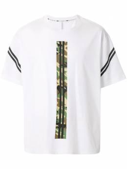 Blackbarrett футболка с контрастной полоской 1AXXJT344WCB